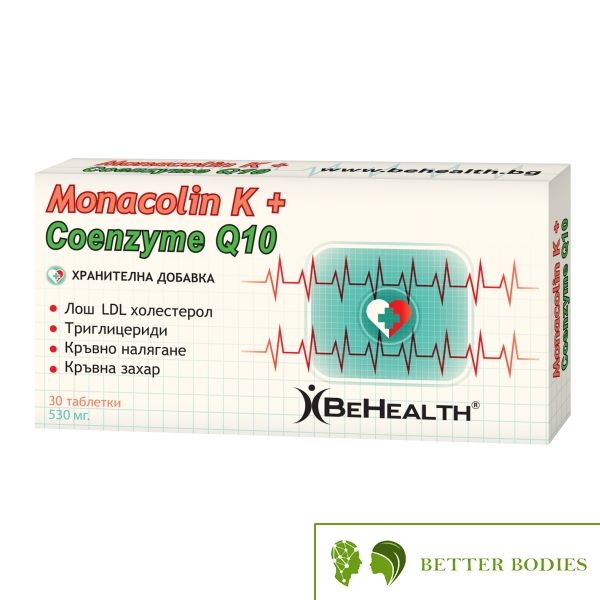 Be Health - Monacolin K + CoQ10 , 30 таблетки