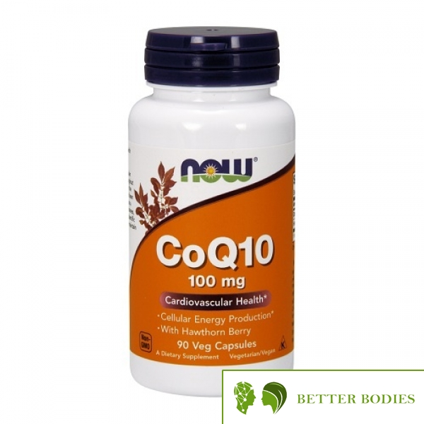 Now Foods - CoQ10 100mg with Hawthorn Berry, 90 капсули