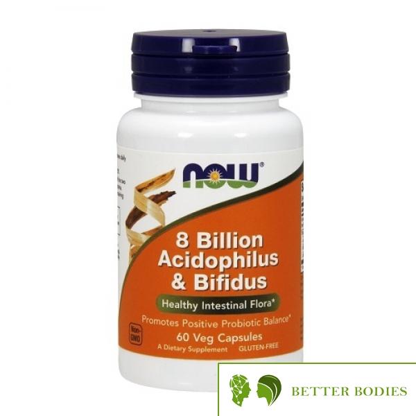 Now Foods - 8 Billion Acidophilus & Bifidus, 60 капсули