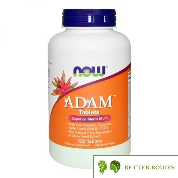 "Now Foods Adam™ Men""s Multiple Vitamin, 120 таблетки"