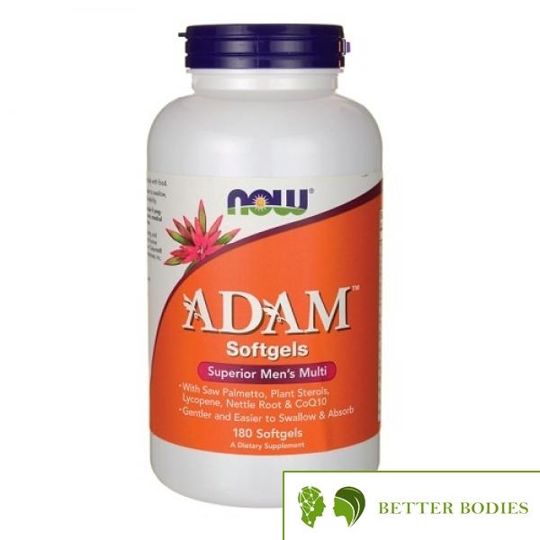 """Now Foods - Adam™ Men""""s Multiple Vitamin, 180  дражета"""