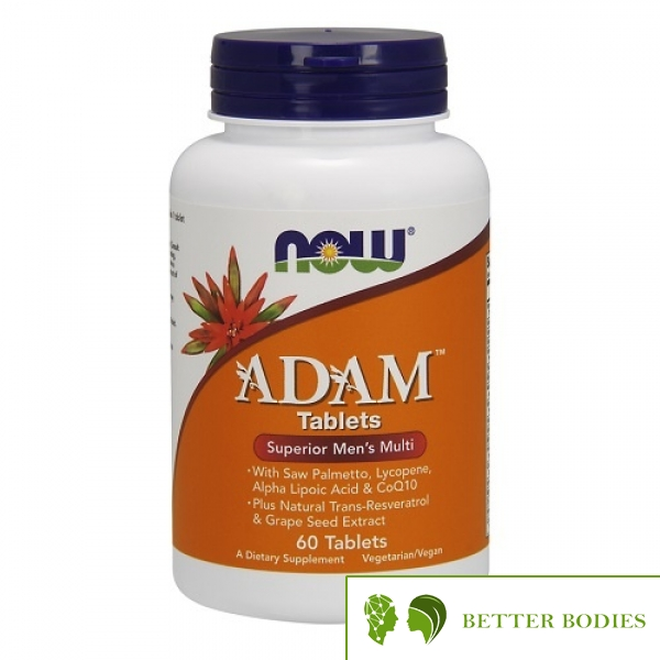 "Now Foods - ADAM™ Men""s Multiple Vitamin, 60 таблетки"