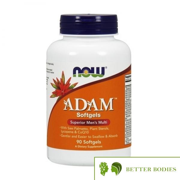 """Now Foods - Adam™ Men""""s Multiple Vitamin, 90 дражета"""