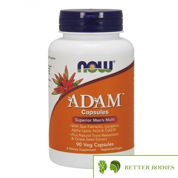 "Now Foods - Adam™ Men""s Multiple Vitamin, 90 капсули"