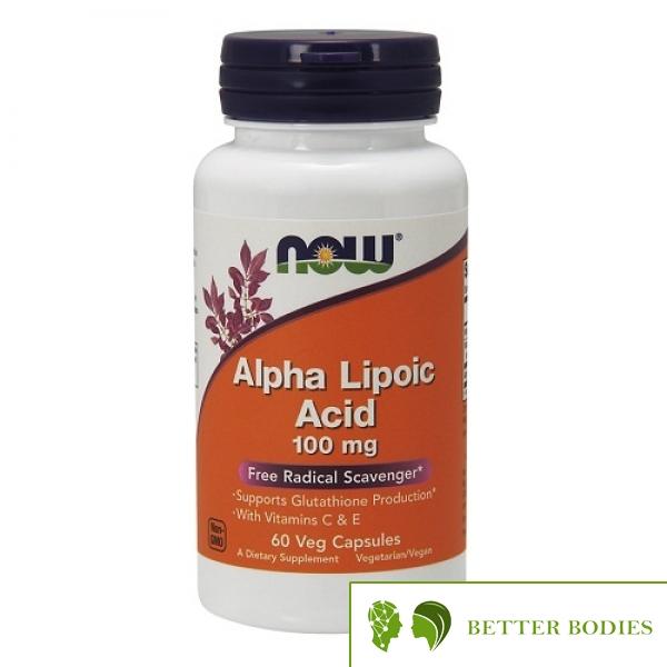 Now Foods - Alpha Lipoic Acid 100mg, 60 капсули