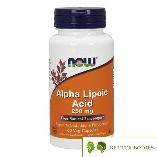 Now Foods - Alpha Lipoic Acid 250 mg, 60 капсули