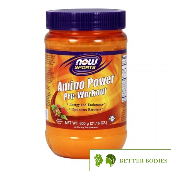 Now Foods - Amino Power Pre-Workout, 600 грама