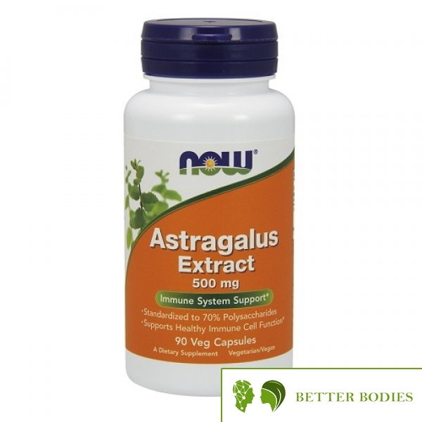 Now Foods - Astragalus Extract 500mg, 90 капсули