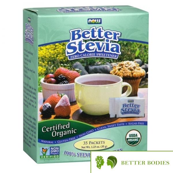 Now Foods - Better Stevia Organic, 35 пакети