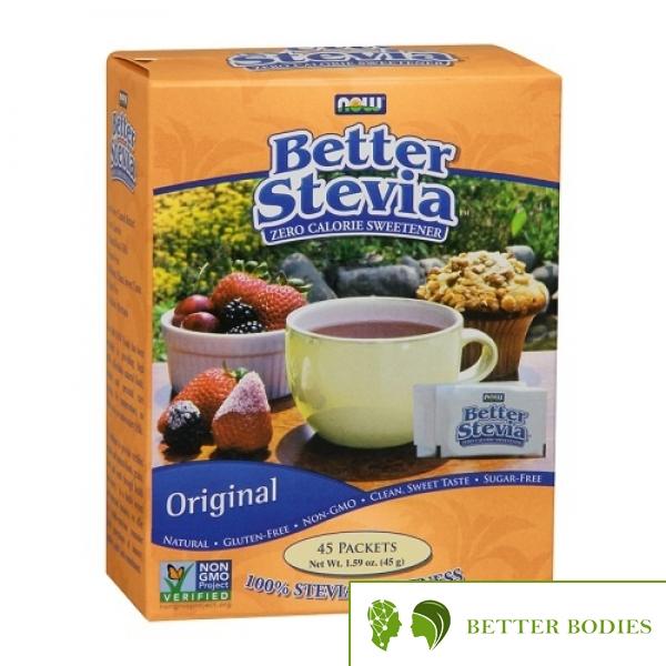 Now Foods - Better Stevia Original , 45 пакети