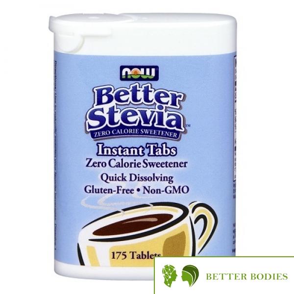 Now Foods - Better Stevia Instant Tabs, 175 таблетки