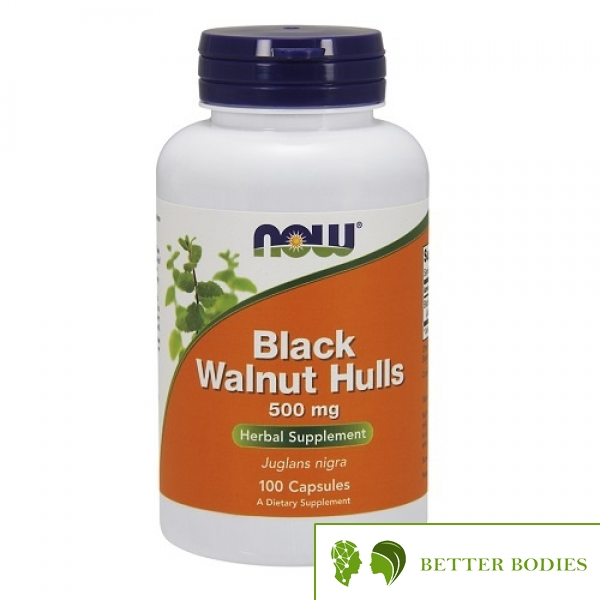 Now Foods - Black Walnut Hulls, 100 капсули