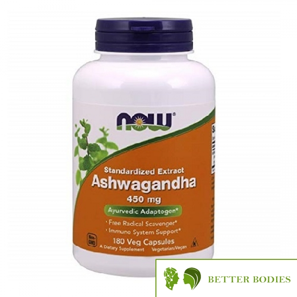 NOW Ashwagandha Extract 450mg, 180 капсули