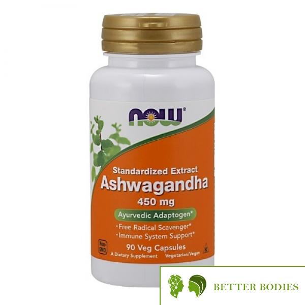 NOW Ashwagandha Extract 450mg, 90 капсули