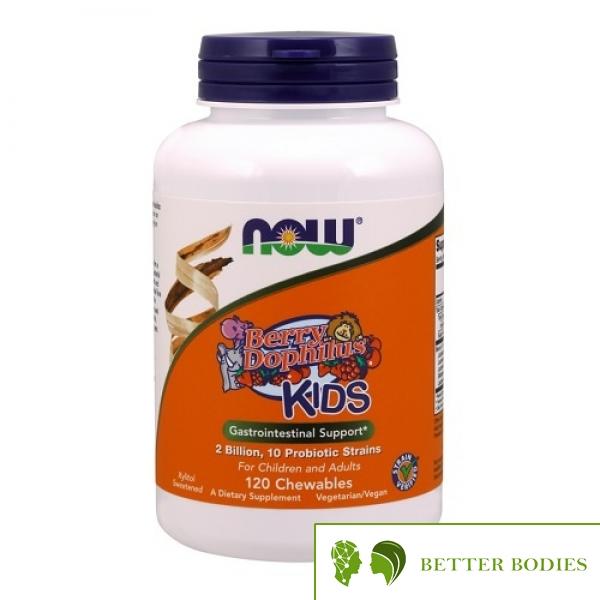 NOW BerryDophilus Kids, 120 дъвчащи таблетки