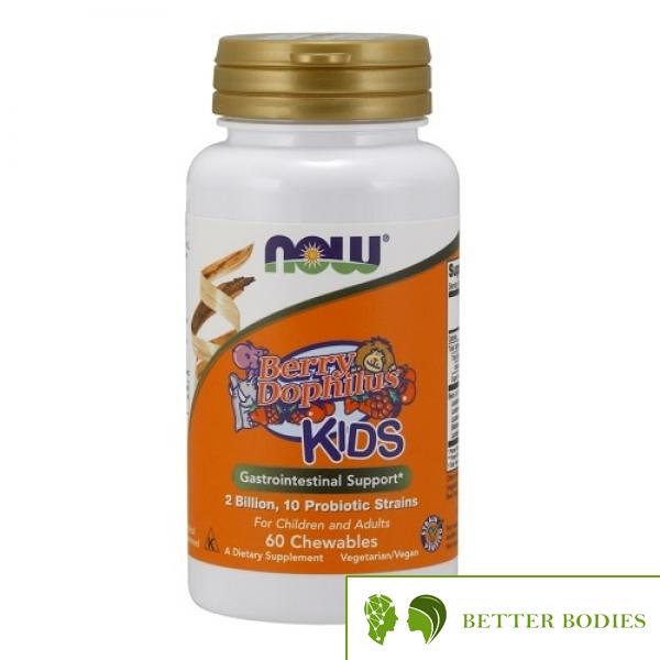 NOW BerryDophilus Kids, 60 дъвчащи таблетки