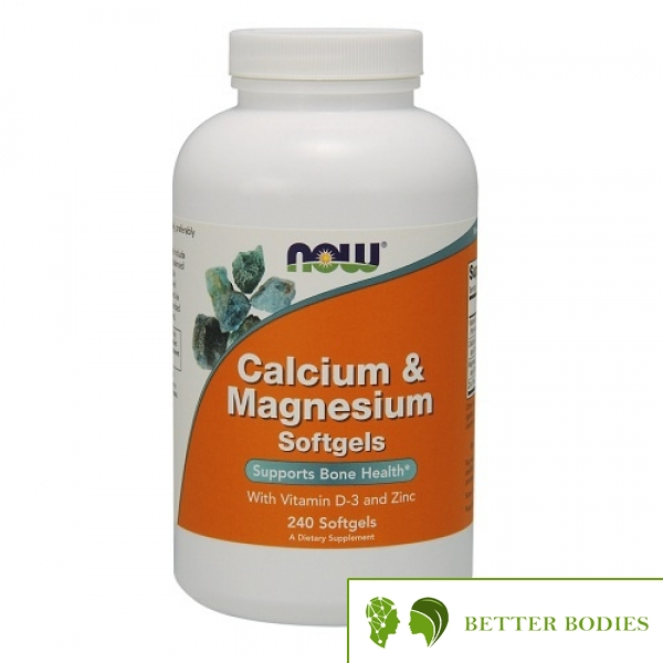 NOW Calcium Magnesium with Vit D and Zinc, 240 гел капсули