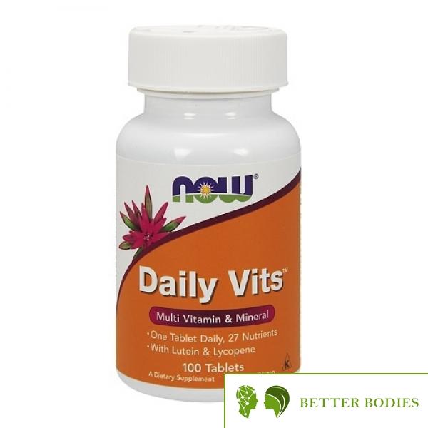 NOW Daily Vits™, 100 таблетки