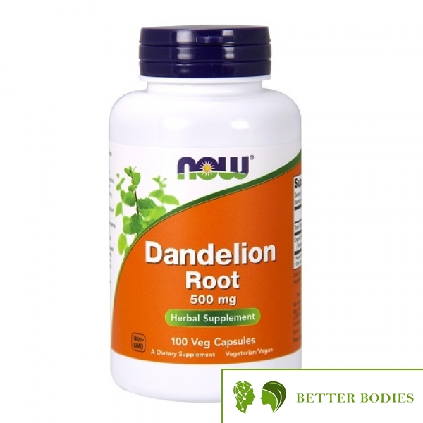 NOW Dandelion Root 500mg, 100 капсули