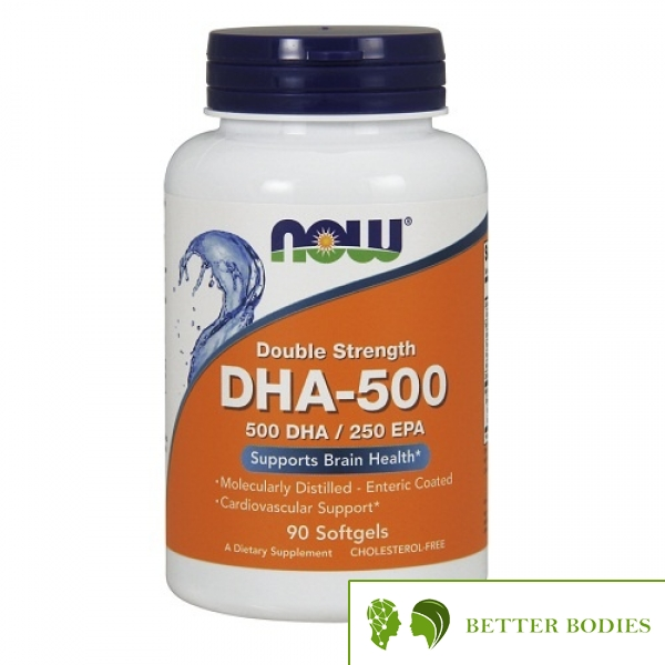 NOW DHA-500 Double Strength, 90 гел капсули