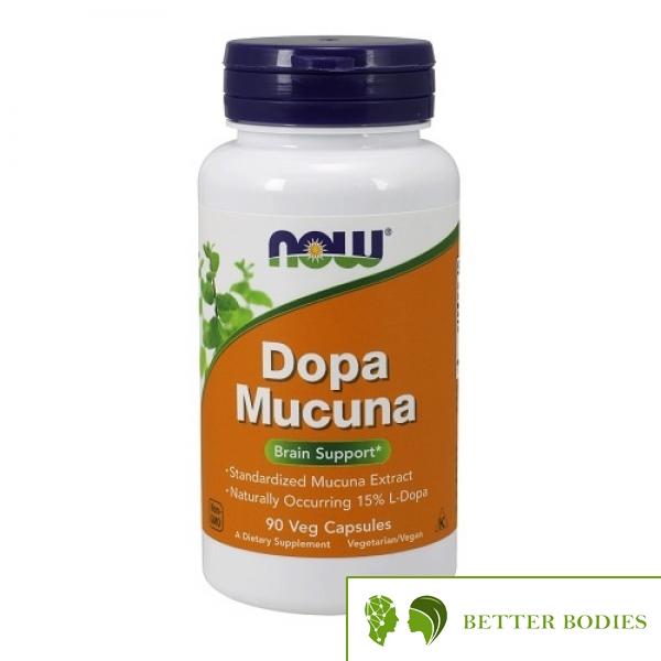NOW Dopa Mucuna, 90 капсули