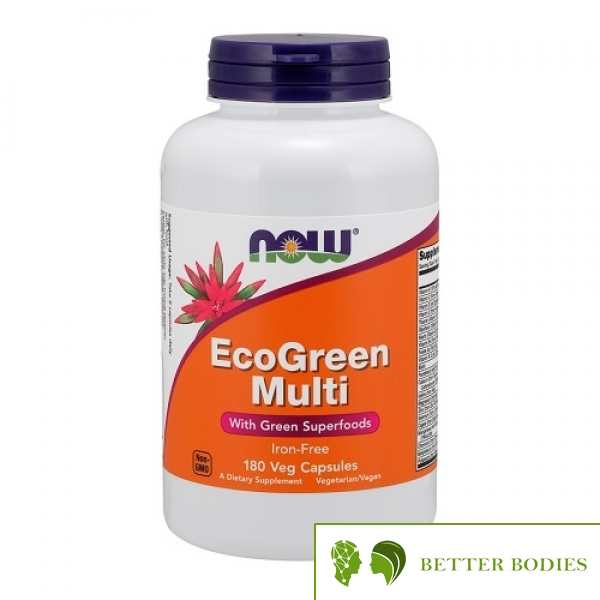 NOW EcoGreen Multi Vitamin, 180 капсули