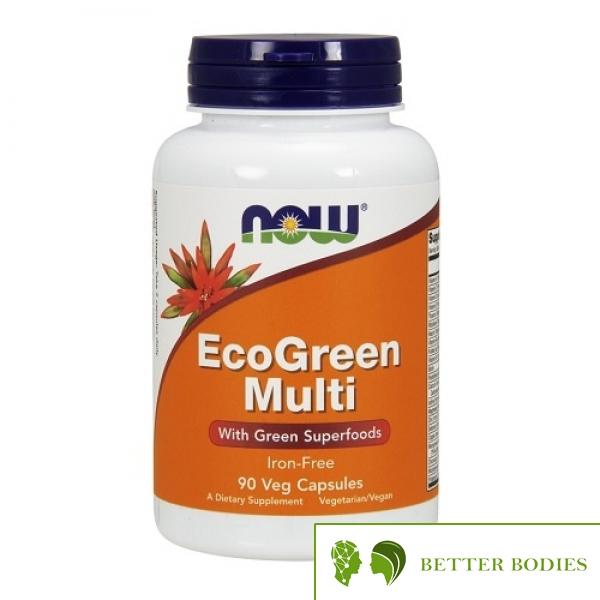 NOW EcoGreen Multi Vitamin, 90 капсули