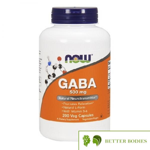 NOW GABA 500mg with Vitamin B6, 200 капсули