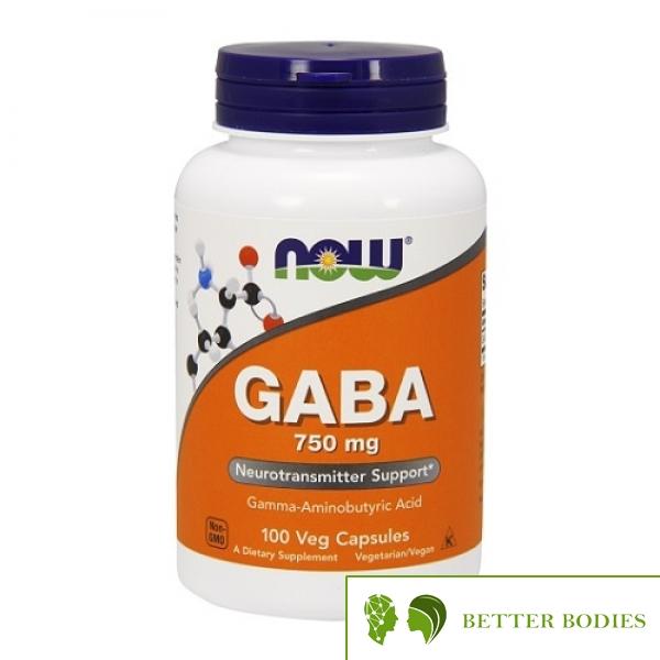 NOW GABA 750mg, 100 капсули