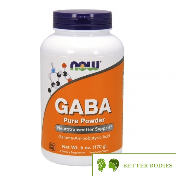 NOW GABA Pure Powder, 170 грама