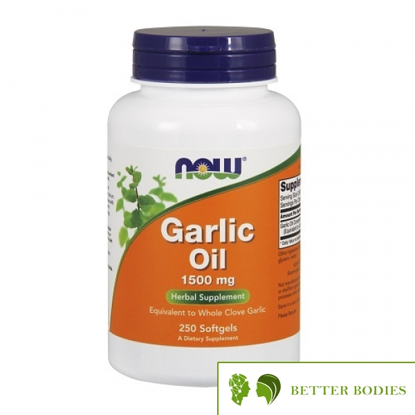 NOW Garlic Oil 1500mg, 250 гел капсули