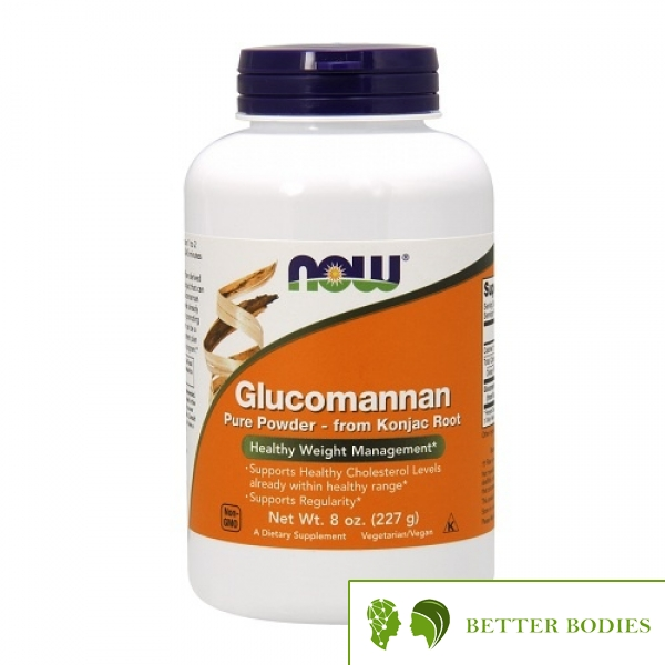 NOW Glucomannan from Konjac Root Pure Powder, 227 грама