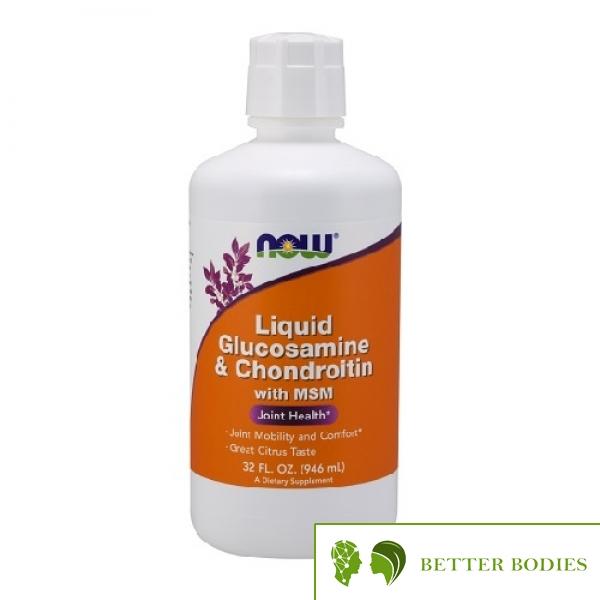 NOW Glucosamine & Chondroitin with MSM Liquid, 946 мл