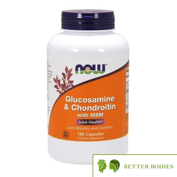 NOW Glucosamine & Chondroitin with MSM, 180 капсули