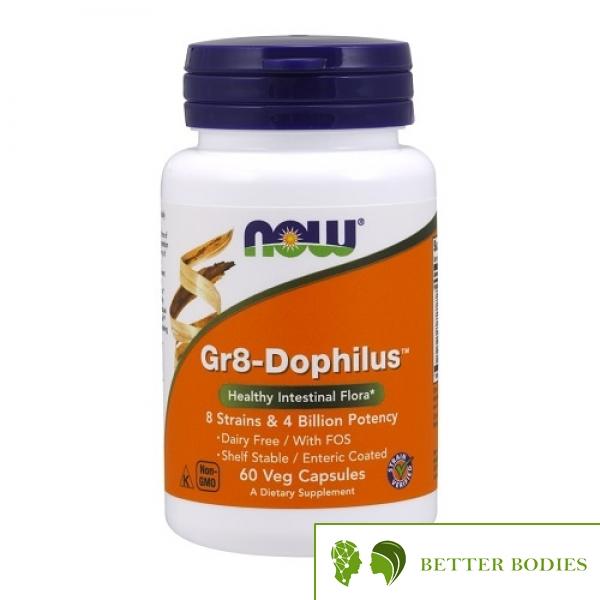 NOW Gr8-Dophilus, 60 капсули