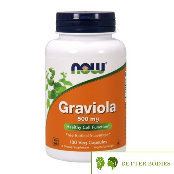 NOW Graviola 500mg, 100 капсули
