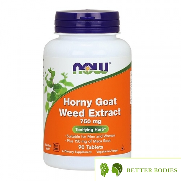 NOW Horny Goat Weed Extract 750mg, 90 таблетки