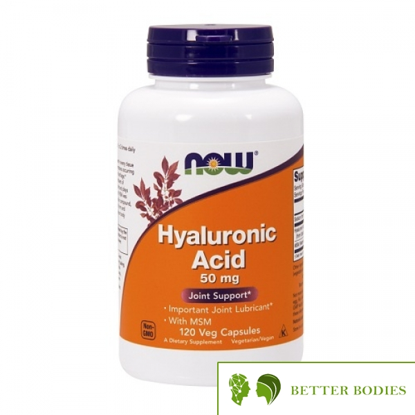 NOW Hyaluronic Acid with MSM, 120 капсули