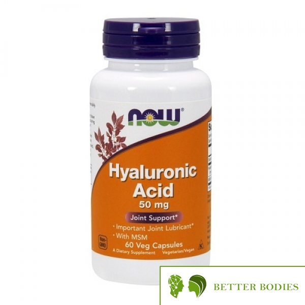 NOW Hyaluronic Acid with MSM, 60 капсули