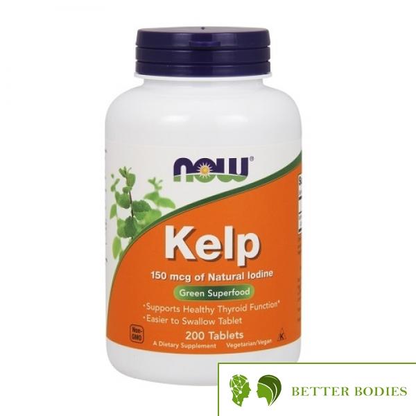 NOW Kelp 150mcg, 200 таблетки