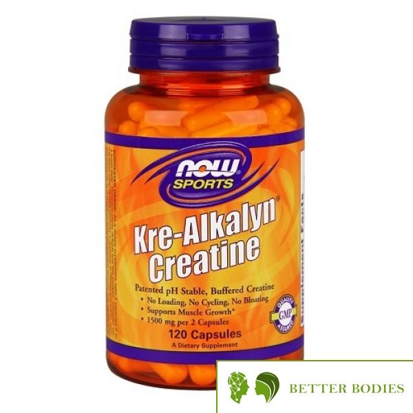 NOW Kre-Alkalyn Creatine, 120 капсули