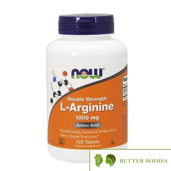 NOW L-Arginine 1000mg, 120 таблетки