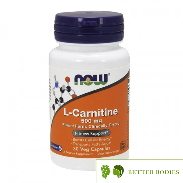 NOW L-Carnitine 500 mg, 30 капсули