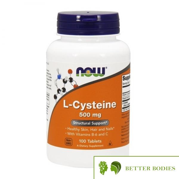 NOW L-Cysteine 500 mg, 100 таблетки