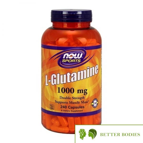 NOW L-Glutamine 1000mg, 240 капсули