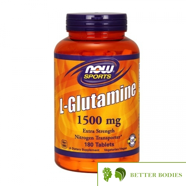 NOW L-Glutamine 1500mg, 180 таблетки