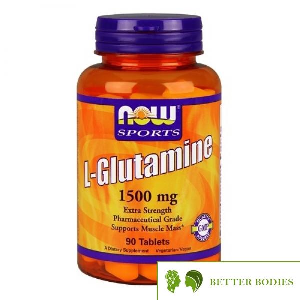 NOW L-Glutamine 1500mg, 90 таблетки