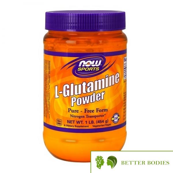 NOW L-Glutamine Powder, 454 грама