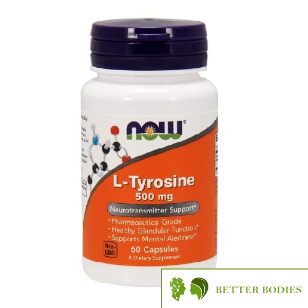 NOW L-Tyrosine 500mg, 60 капсули