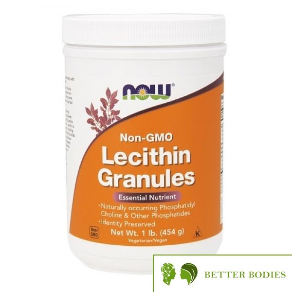 NOW Lecithin Granules (Non-GMO), 454 грама